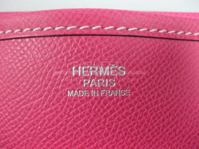 Authentic Hermes Evelyn III GM Epsom Leather Rose Tyrien