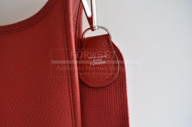 Authentic Hermes Evelyne III Rouge Garance Carried 5 Times Mint