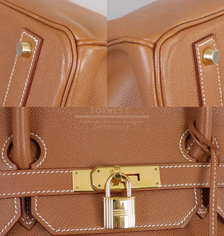 Authentic Hermes Gold Couchevel Birkin 40 Gold Hardware