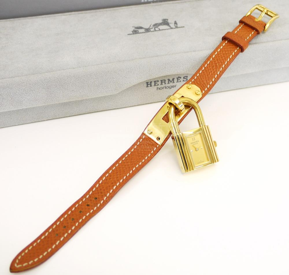 Authentic Hermes Gold Couchevel Kelly Watch 1800