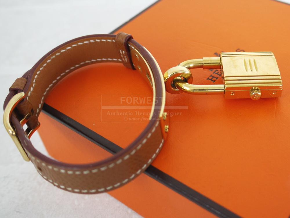 Authentic Hermes Gold Courchevel Kelly Watch In Box-$759.0000