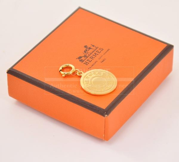 Authentic Hermes Gold Tone Charm Pendant Top H301