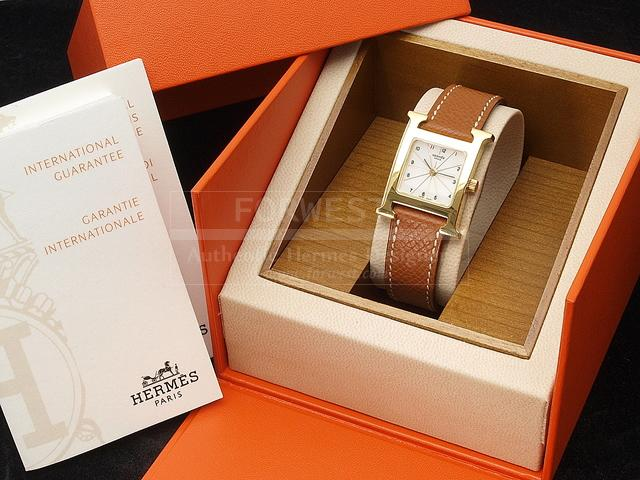 Authentic Hermes H Our Watch Ss K18gp 1700