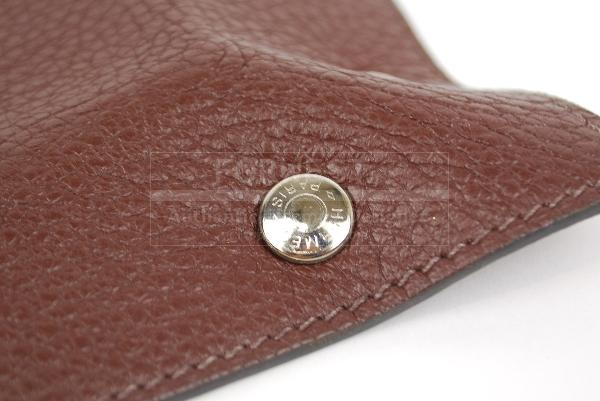 Authentic Hermes H Brown Leather Change Tray Mises Et Relance