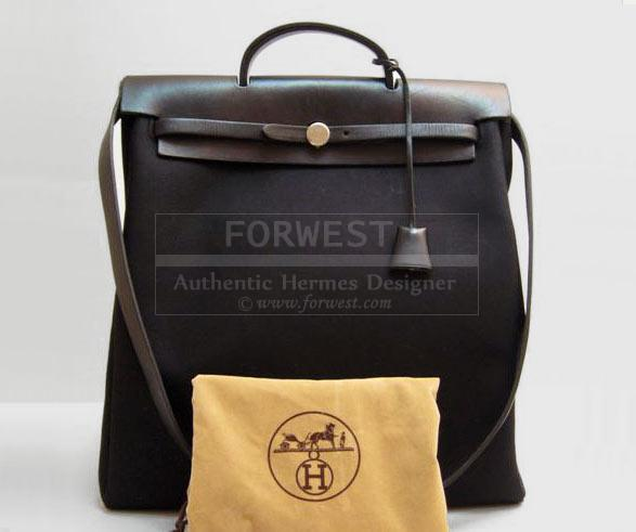 Authentic Hermes Herbag 2 In 1 Tote Bag