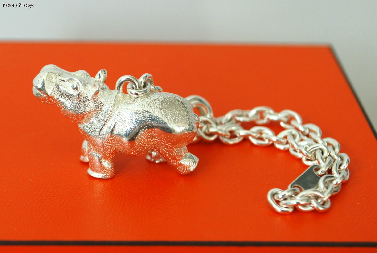 Authentic Hermes Hippo Key Ring Bag Charm Sterling Silver 925 Ltd
