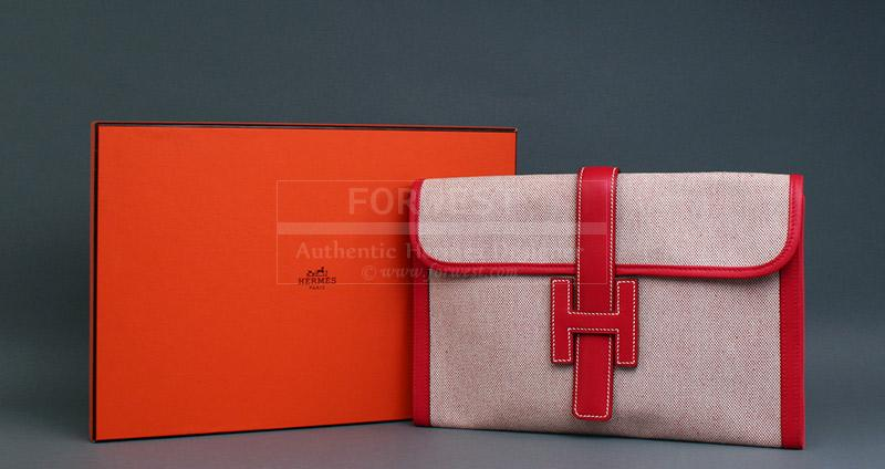 976cdabe533f Authentic Hermes Jige PM Red Clutch Bag- 1195.0000