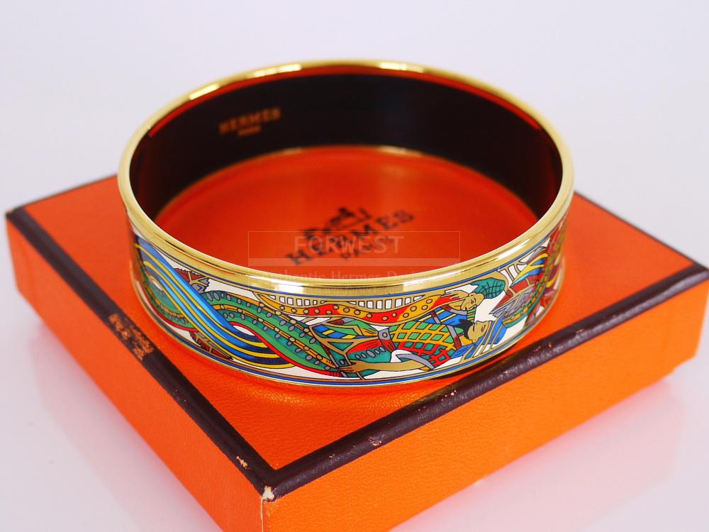 Authentic Hermes K18 Enamel Bangle