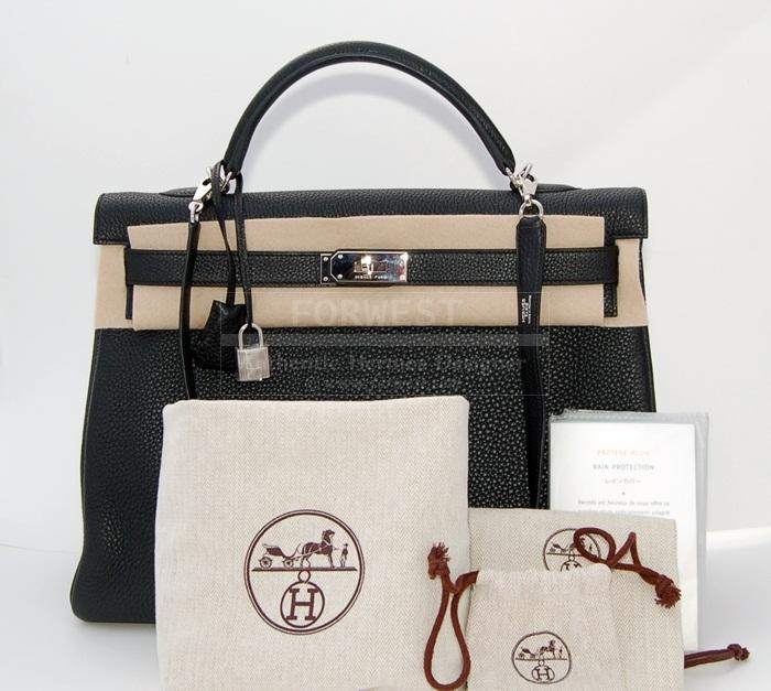 hermes scarf authenticity - Authentic Hermes Kelly 40cm Black P H W Togo-$10500.0000