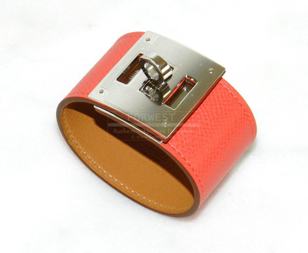Authentic Hermes Kelly Dog Rose Jaipur Epsom Leather Palladium Hw