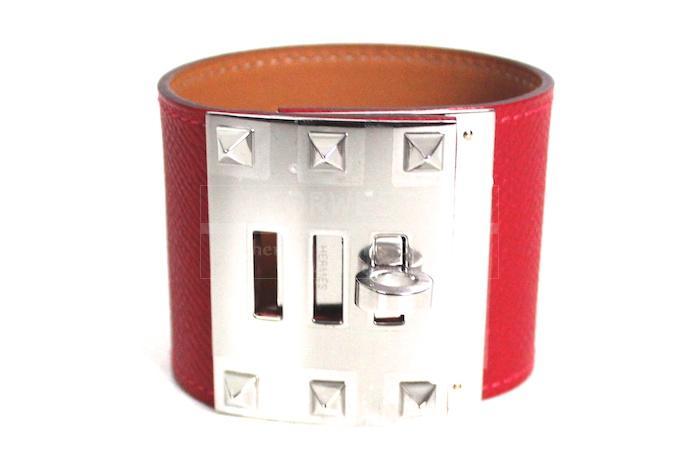 Authentic Hermes Kelly Extreme Epsom Rouge Casaque Bracelet New