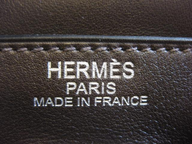 Authentic Hermes Kelly Relax Ebene Sikkim Leather Purse