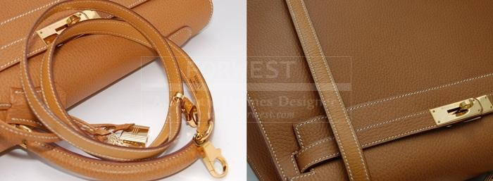 2cbe346bbc2b Authentic Hermes Kelly Sellier 35 Natural Ardennes G H W- 8149.0000