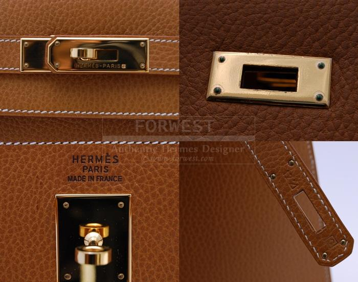 Authentic Hermes Kelly Sellier 35 Natural Ardennes G H W-$8149.0000