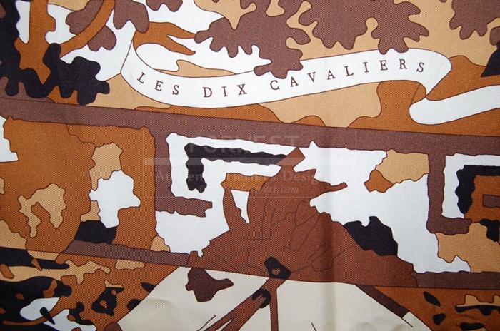 Authentic Hermes Les Dix Cavaliers Silk Scarf