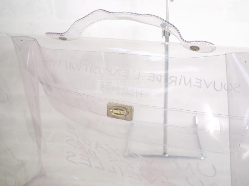 Authentic Hermes Limited Edition Naked Plastic Kelly Bag 40cm Rare