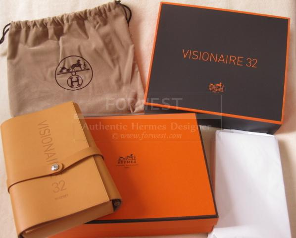 Authentic Hermes Limited Edition Visionaire 32 Postcard Holder and Pen