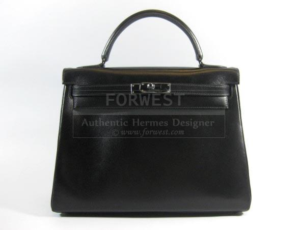 Authentic Hermes Limited So Black Kelly 32 Retourne Box Purse