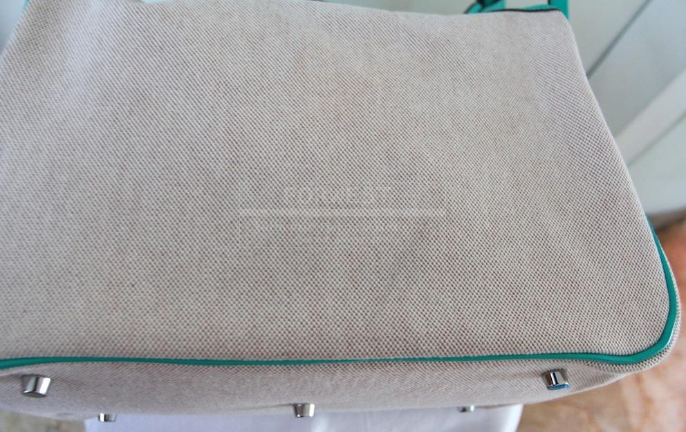 Authentic Hermes Lindy 34 Toile lagoon In Swift