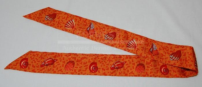 Authentic Hermes Mosaic Twilly Scarf