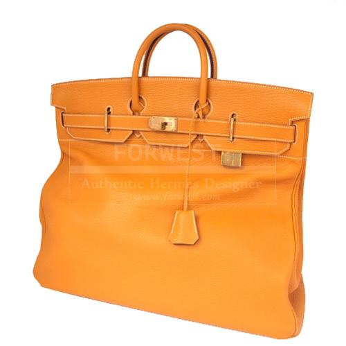 Authentic Hermes Natural Brown Fjord Hac Birkin 50 Vintage Rare