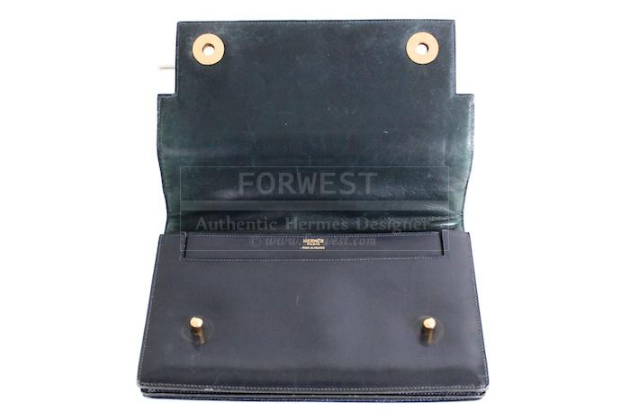 Authentic Hermes Navy Blue Box Piano Bag