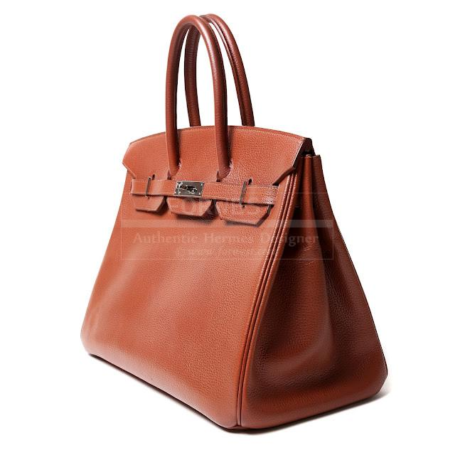Authentic Hermes Noisette Vache Liegee 35 Cm Birkin