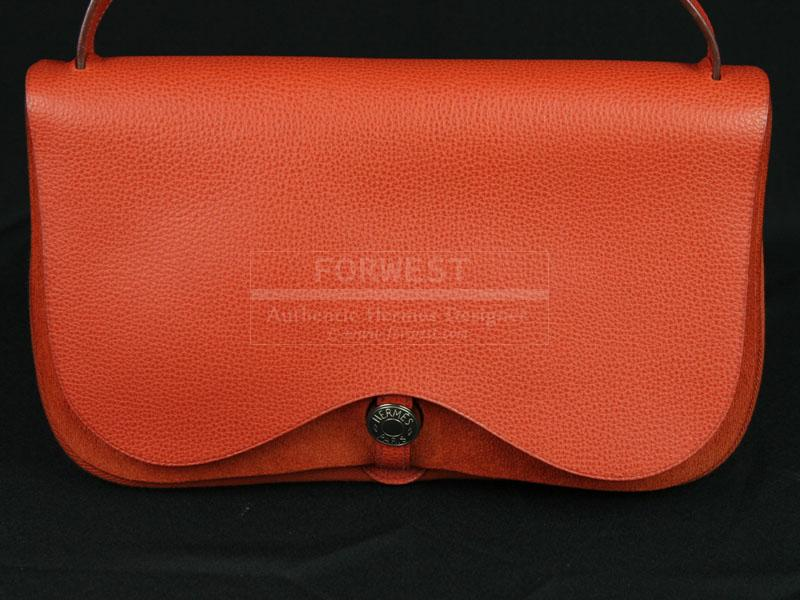 Authentic Hermes Orange Colorado MM In Excellent Condition-$0.0000