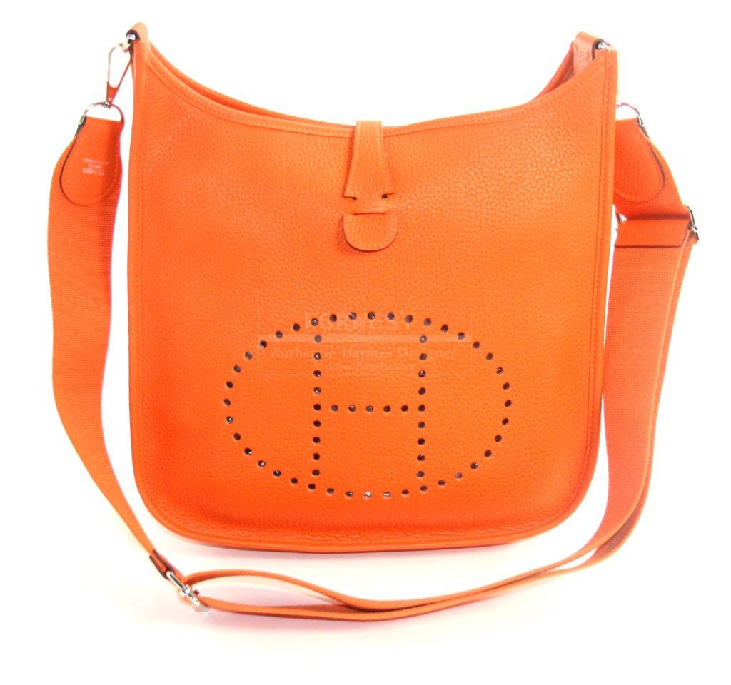 hermes kelly bag price - Authentic_Hermes_Orange_Evelyne_GM_Cross_Body_Bag.jpg