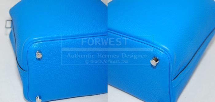 Authentic Hermes Picotin Lock PM Bleu Hydra P H W