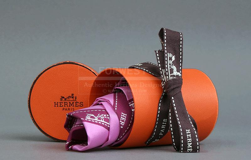 Authentic Hermes Pink Bolduc Twilly Scarf
