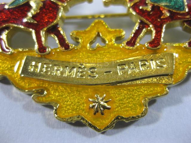 Authentic Hermes Rare Deux Chiens Brooch