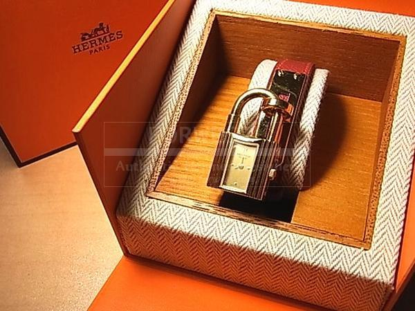 Authentic Hermes Red Couchevel Kelly Watch 1800