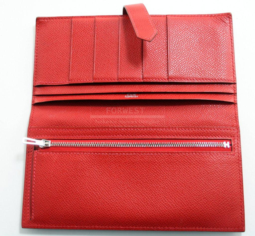 usl briefcase hermes - Authentic Hermes Red Epsom Bearn Wallet-$1200.0000