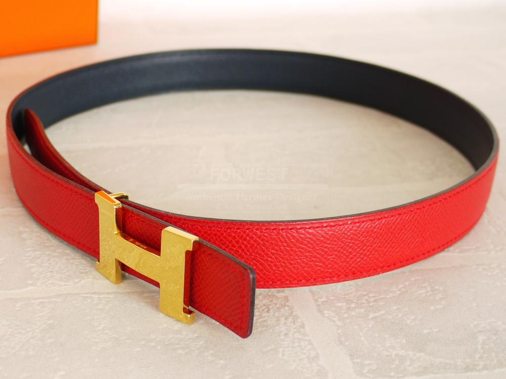 Authentic Hermes Red Navy Courchevel Mini