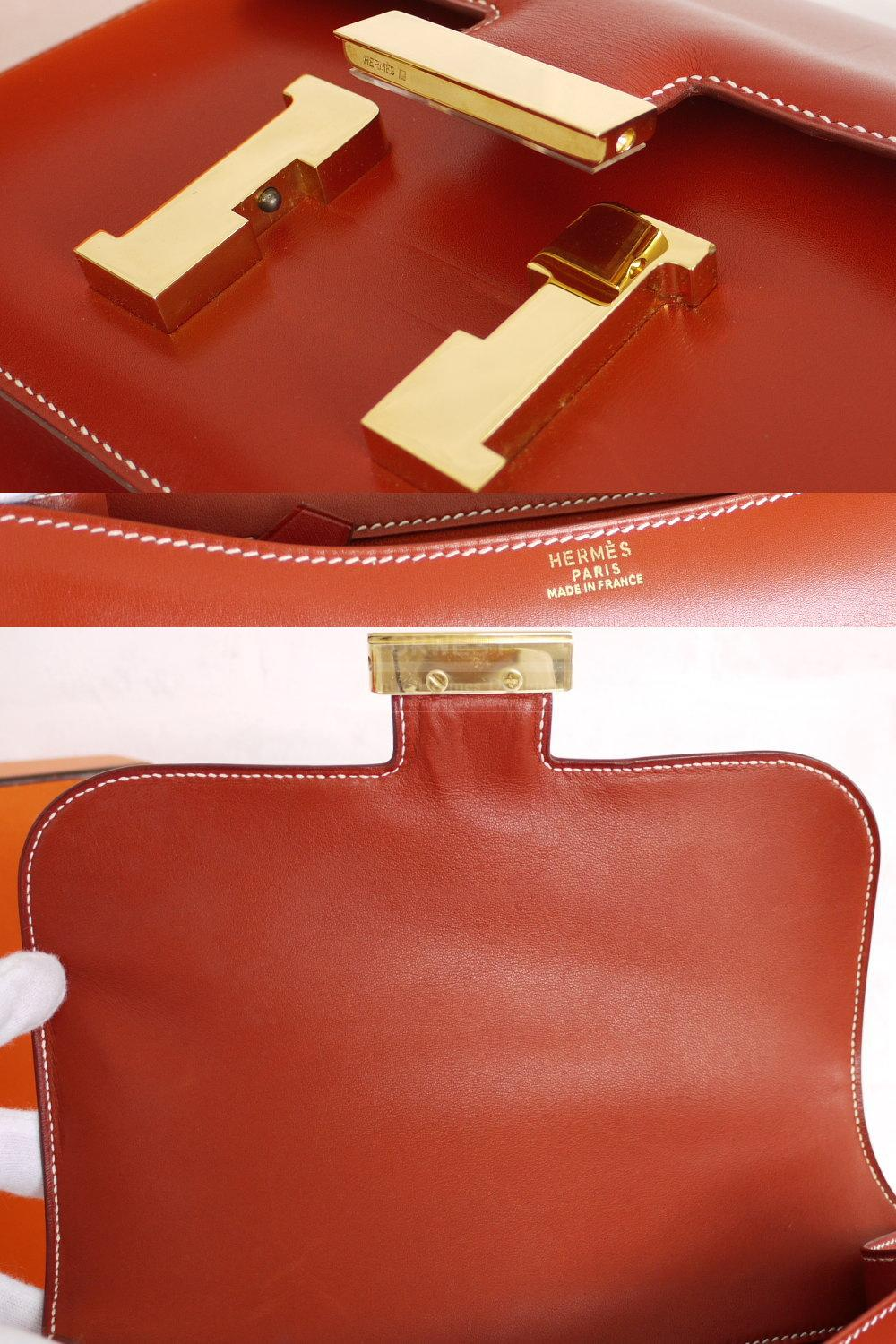 birkin bag website - Authentic Hermes Reddish Brown Box Calf 23cm Constance Bag Rare ...