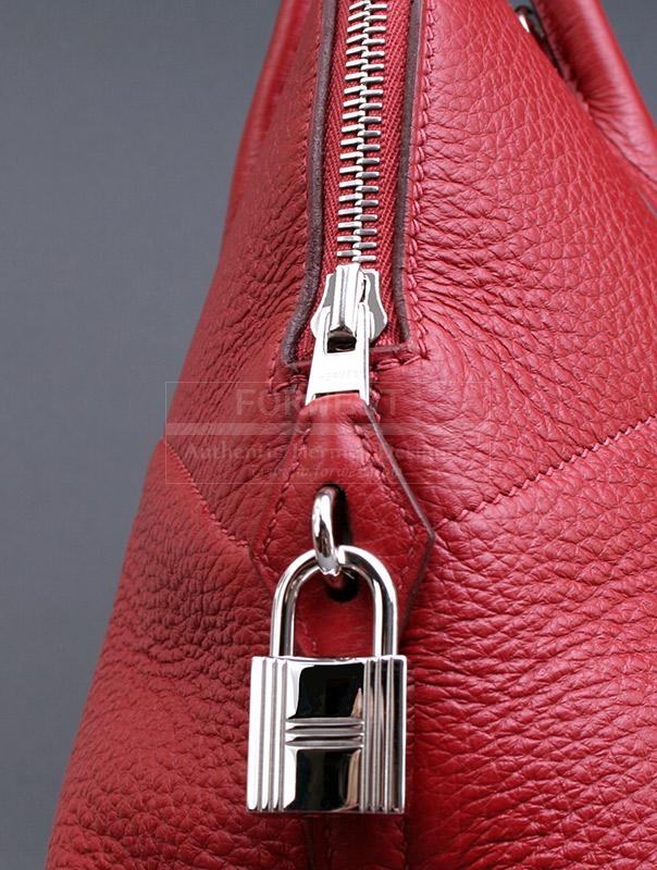 Authentic Hermes Rough H Clemence Leather Bolide 37 Bag