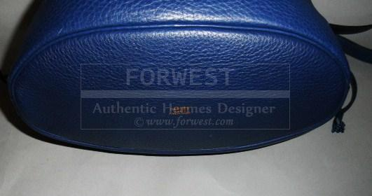 Authentic Hermes Royal Blue Togo Market Drawstring Bucket Bag