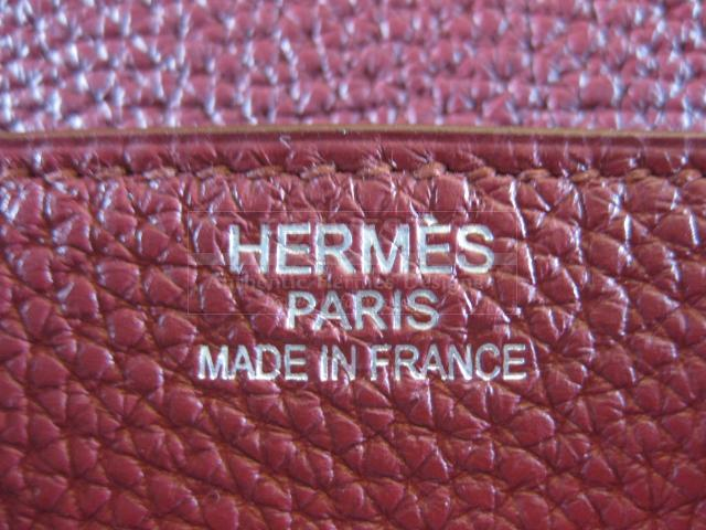 Authentic Hermes Ruby Birkin 40 Togo Leather Rubis Purse