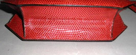 Authentic Hermes Sac Rhapsody Red Lizard Kelly H Lock Bag Rare