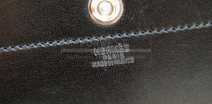 Authentic Hermes Sacoche Pour Selle Backpack Black P H W