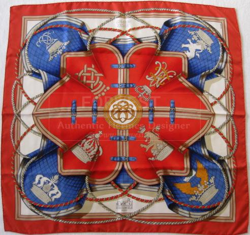 Authentic Hermes Scarf Grand Tenue Silk Carre
