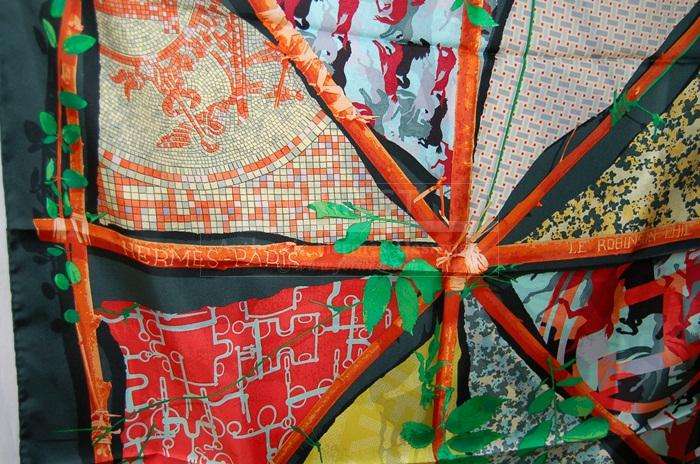 Authentic Hermes Scarf Robinson Chic Silk Carre