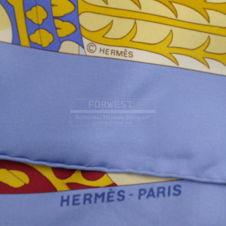 Authentic Hermes Splendeur Des Mahajaras II Silk Twill Scarf 90cm
