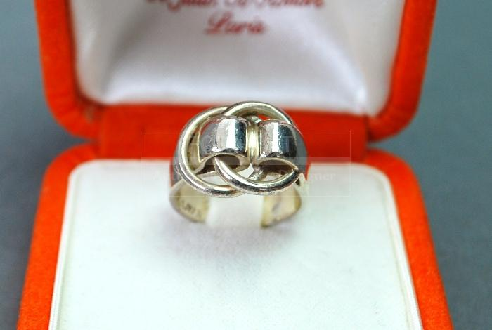 Authentic Hermes Sterling Silver 925 Ring Us Size 55 deux Annea