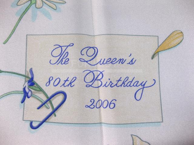 Authentic Hermes The Queens Birthday 2006 Anniversary Scarf