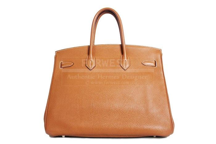 Authentic Hermes Togo Gold Birkin 35 Cm Bag