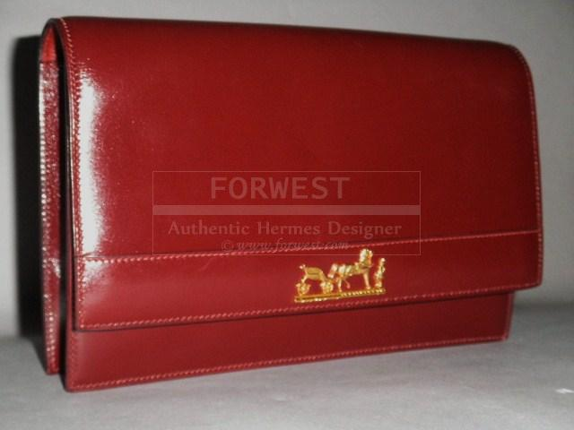 hermes birkin travel bag - Authentic Hermes Vintage Sac Eugenie Rouge H Logo Clutch Shoulder ...