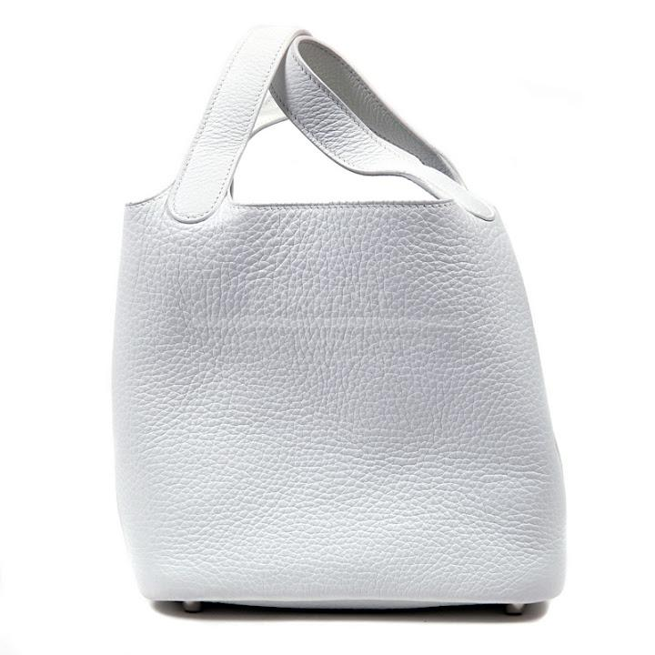 Authentic Hermes White Clemence Picotin
