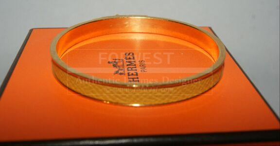 Authentic Hermes Yellow Courchevel Kelly Lock PM Bracelet W box